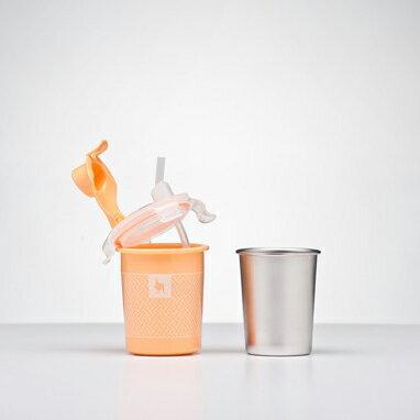 美國【Kangovou】小袋鼠不鏽鋼安全兒童兩用杯-四色 3