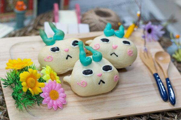 純手工日本超可愛小石獅造型小熱狗麵包-3入裝