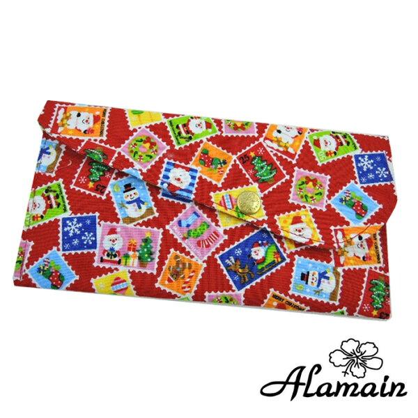 艾拉蔓_聖誕郵票_進口布紅包袋、布包、環保招財袋、存褶包、鈔票夾、、手創錢袋、手作錢包收藏袋收納袋_采靚精品鞋飾