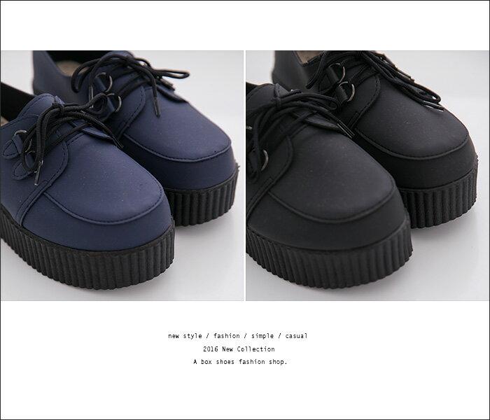 格子舖*【AND908】MIT台灣製 經典素色韓版熱銷 厚底增高5.5CM 皮革綁帶鬆糕鞋 厚底包鞋 2色 2
