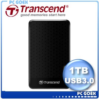 創見 Transcend 25A3 黑 1TB / 1T StoreJet   USB3.0 行動硬碟 懸吊防震 外接硬碟  ☆pcgoex 軒揚☆