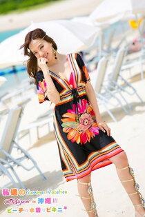 [瑪嘉妮Majani] 日系中大尺碼泳衣泳裝配件 -大尺碼   超顯瘦 比基尼外罩衫 特349 可超取付 bs-188