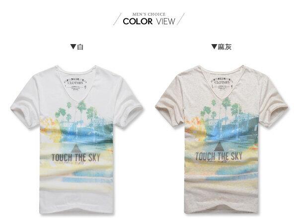 ☆BOY-2☆【NR01051】短袖T恤韓版潮流三角形彩色印花短T 1