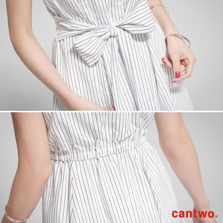 cantow襯衫領無袖洋裝(共三色) 5