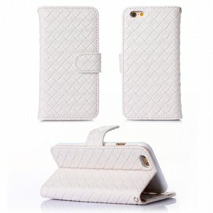 Apple iPhone 6 / 6s 時尚編織紋手機皮套 側掀磁扣支架式皮套 矽膠軟殼 多色可選 2