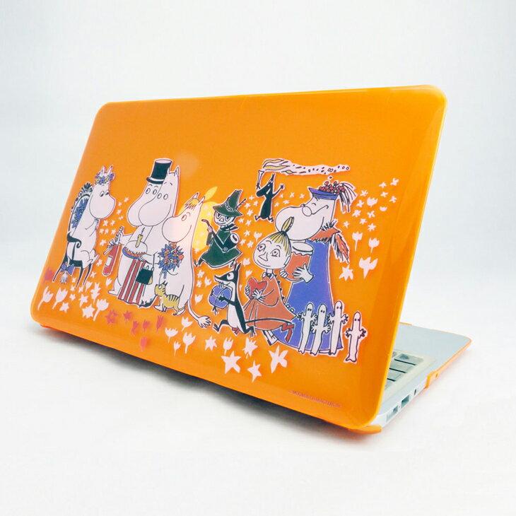 Moomin嚕嚕米正版授權 - Macboo水晶殼:【 生日派對(橘) 】《 Macbook Air / Pro / Retina   11.6
