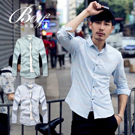 ☆BOY-2☆【NQ97013】修身細格紋長袖襯衫 1