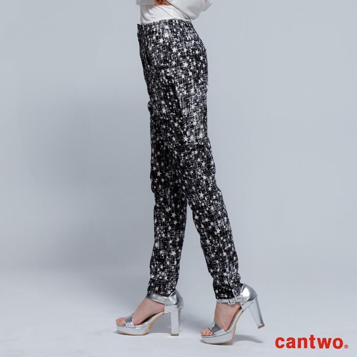 cantwo星星磨毛感中腰小直筒褲(共兩色) 2