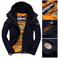 Superdry極度乾燥商品推薦[男款]英國名品代購 極度乾燥 Superdry Arctic Wind Attacke 男士防水防風戶外休閒外套夾克風衣 深藍
