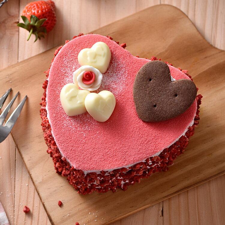 心心相印草莓蛋糕(6吋)★免運★蘋果日報 母親節蛋糕【布里王子】需五天前預訂 1
