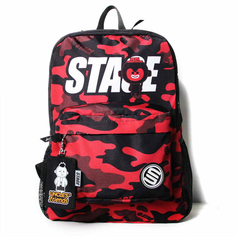 STAGE BAG × UNCLES FRIENDS SCORPIO BACKPACK 黑紅色 天蠍座 2