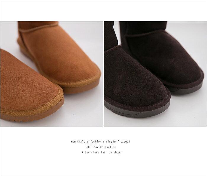 格子舖*【KV5815】UGG同鞋廠 寒冬超人氣熱賣暖暖真牛皮羊毛長筒雪靴雪地靴 3色 2