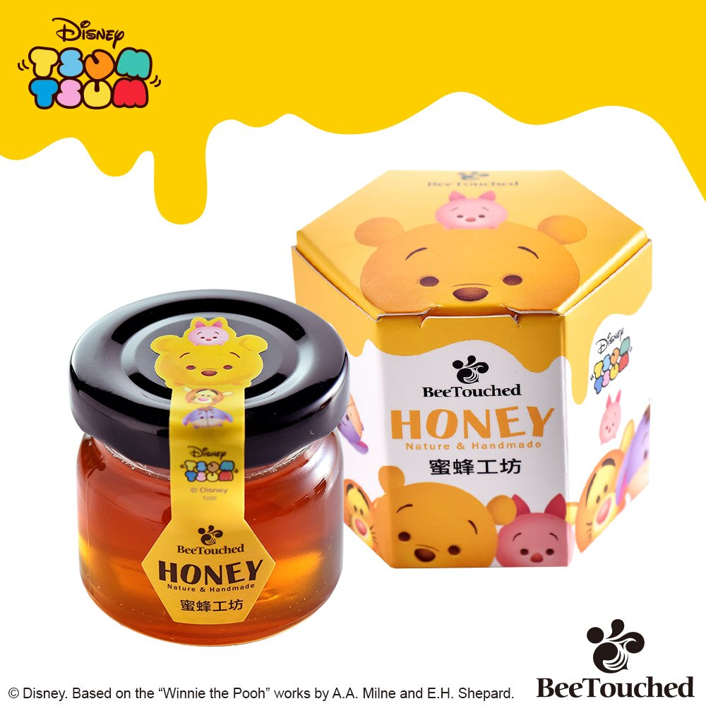 蜜蜂工坊- 迪士尼tsum tsum系列手作蜂蜜( 完整六入組)  ★ 米奇+維尼+胡迪+艾莎+大眼仔+奇奇 ★ 聖誕限定 送 維尼提袋 8