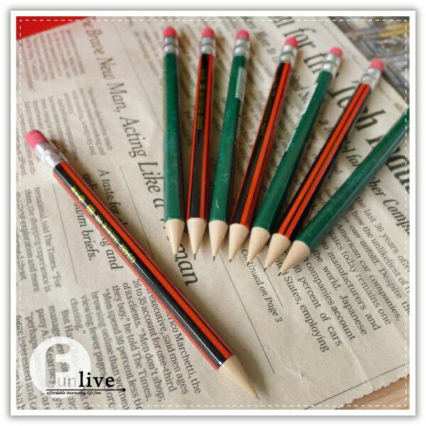 【aife life】復古風自動鉛筆-附橡皮擦/日韓系/六角 短版 自動鉛筆/宣傳 活動 贈品禮品/學生 文具用品