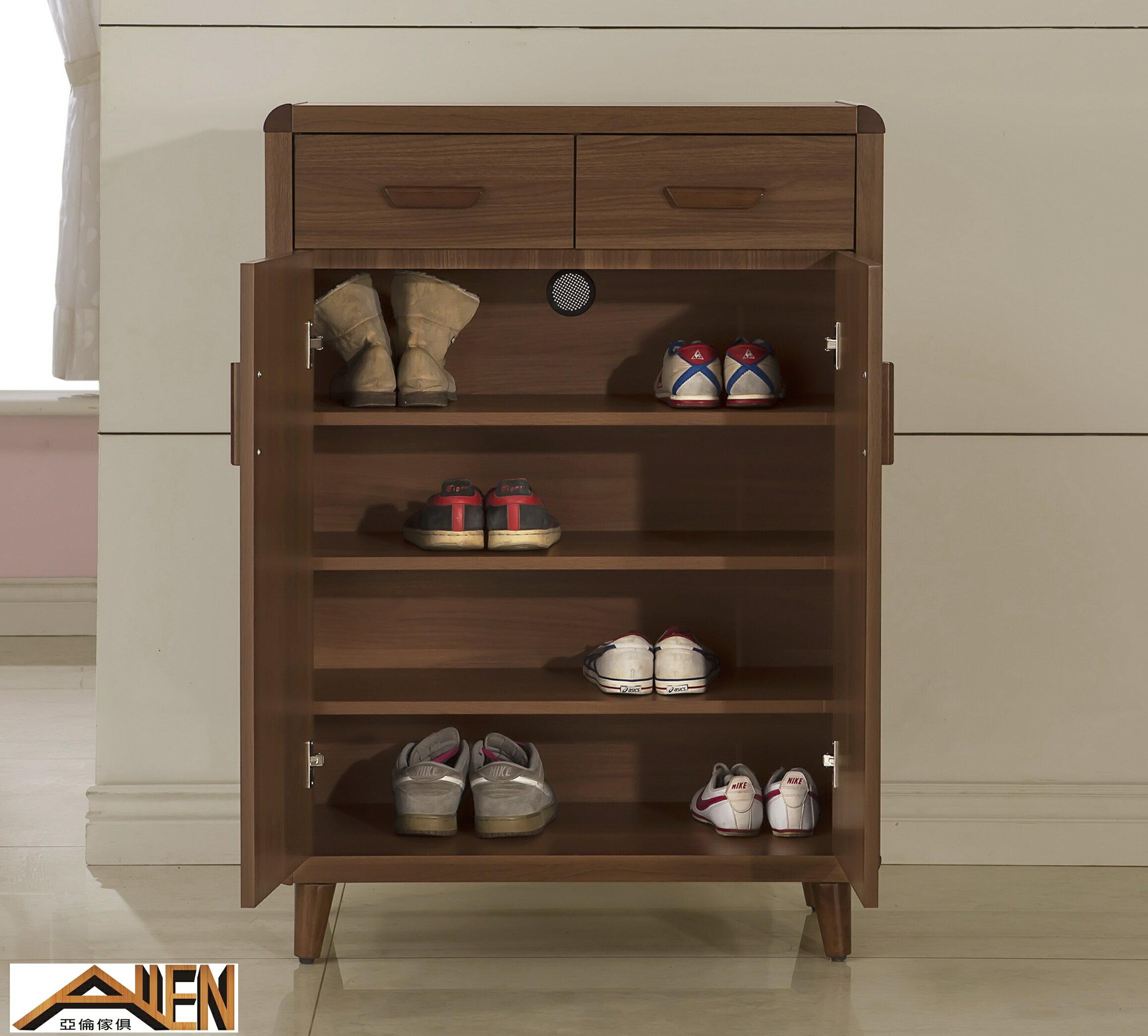亞倫傢俱*阿勞德安全R角2.7尺鞋櫃 1