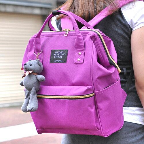 【預購】【Aimee包包屋】首爾街頭‧韓國代購可愛寶貝熊旅行家後背包‧原廠空運旅行包托特包登山包登機箱媽媽包大包帆布包機車包防水