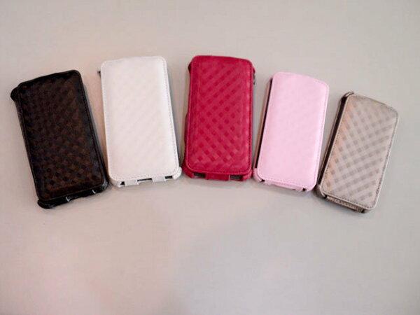 Apple I phone 4S/iPhone 4 皮套/掀蓋式皮套/下掀式皮套/下翻式皮套/手機皮套
