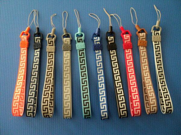 多彩幾何圖案設計短手機掛繩/掛鍊/手機吊繩/手機吊飾/相機腕繩