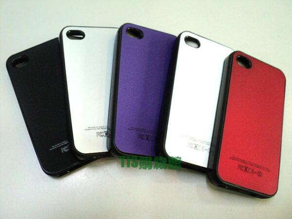 Apple I phone 4S/iPhone 4 專用 皮革紋 雙料保護套 保護殼 保護套 手機殼 手機套 背蓋 背殼 亮面軟殼 TPU軟膠邊框