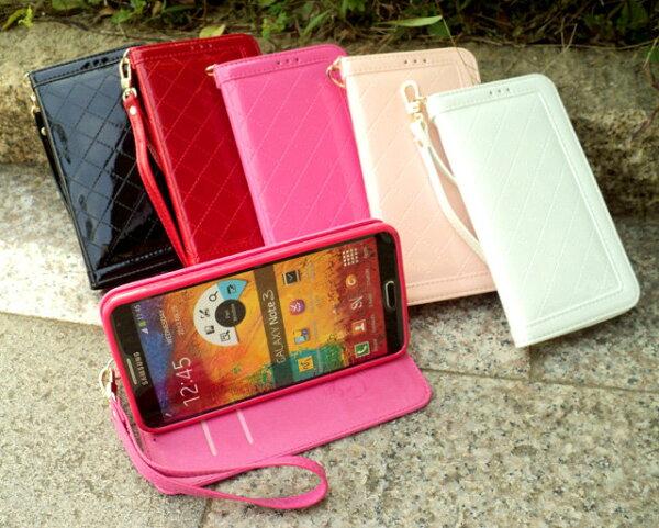 GRAND NEO/Grand Duos 手機套 經典時尚菱格亮皮 三星 Samsung GALAXY i9082 i9080 i9060 手機側掀保護皮套/磁扣/保護套/背蓋/可站立/軟膠套/TIS購物館