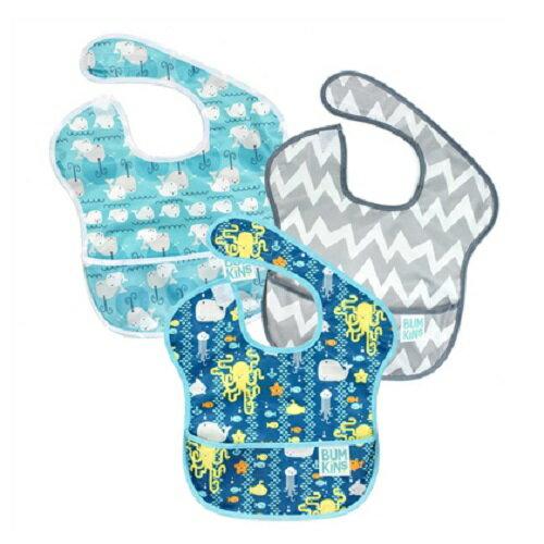 美國【Bumkins】兒童防水圍兜 (3入)-B90款 BKS3-B90 - 限時優惠好康折扣