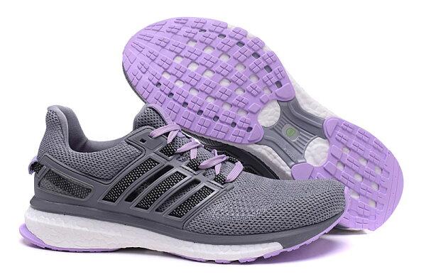 Adidas energy boost 3  透氣慢跑鞋  女鞋 (灰紫36-39)