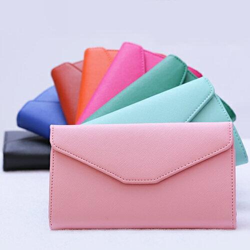 ☆BOBI☆02/25素色十字紋皮面多分層長夾 拉鍊皮夾錢包卡包【PS002】