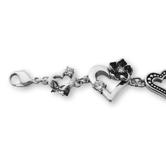 【海外訂購】【KONRON】愛心花園寶石純銀手鍊 18cm (KRB0644-Cz  032035B7Q8) 5