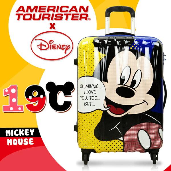 《熊熊先生》迪士尼官方授權 新秀麗 Samsonite 美國旅行者 米奇 米妮 行李箱 24吋19C 旅行箱拉桿箱