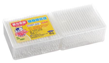 『121婦嬰用品館』菲力家族 粗軸棉花棒 200支*2盒