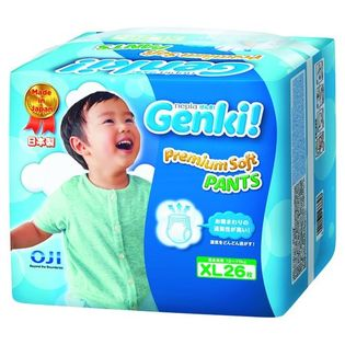 ★衛立兒生活館★日本境內 王子 Genki! 元氣褲(紙尿布)-XL26片(6包箱購)