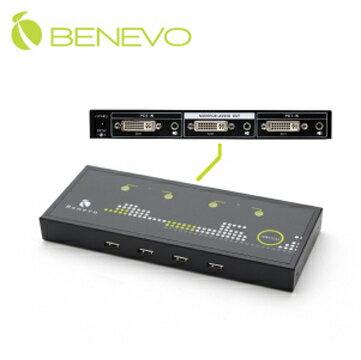 BENEVO BKDM102UA UltraKVM桌上型-2埠USB2.0 DVI多電腦切換器(含音效)