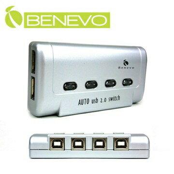BENEVO 4埠雙USB2.0自動手動切換器 ( BUS402A )