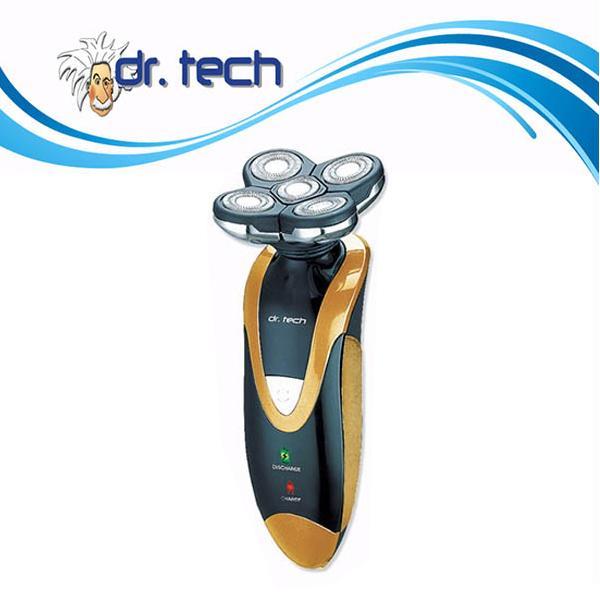 Dr. tech 雙環設計_5合1五刀頭水洗刮鬍刀超值組(GS-5581)- (金/黑 兩色)