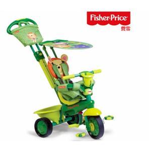 「Fisher-Price費雪」摩登嬰幼3合1三輪車(潮流獅/靚乳牛 兩色)