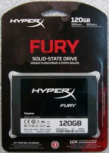 Kingston 金士頓SHFS37A/120G HyperX FurySSD 固態硬碟