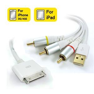KTNET - Apple Dock Connector to AV 影音訊號轉接線+USB接頭 - 1.5米