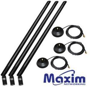 Maxim 3AN08-05D 8dBi強力天線組合包(for 3T3R機種)*