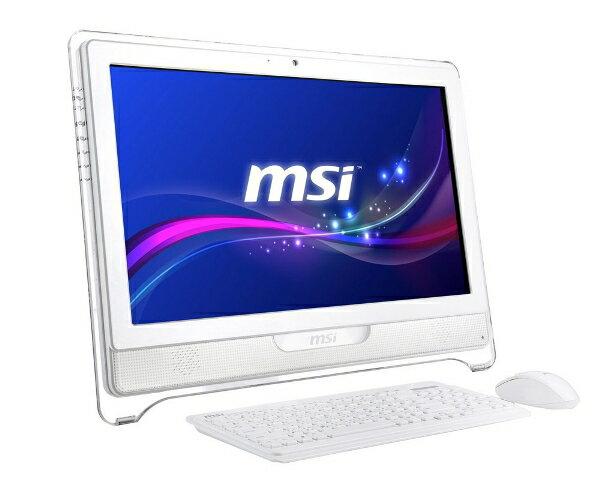 MSI微星AE2281- 014TW- WG8704G50S7PMX All-in-one 電腦 (21.5吋/G870 3.1G/HD 2000/4G/500GB/DVD燒/W7HP/1.3M/13.63KG)
