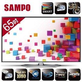 SAMPO 聲寶 Smart 3D系列 EM-65NT15D 65吋液晶顯示器+視訊盒