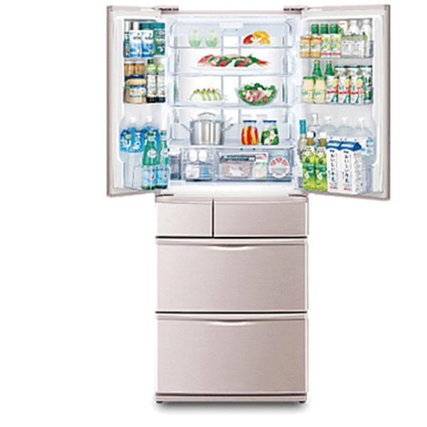 SHARP 夏普560L日本原裝一級六門環保冰箱SJ-XF56W-N香檳金