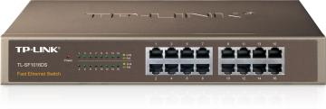 """TP-LINK  TL-SF1016DS 10/100 Switch 16ports 13"""" 鐵殼"""