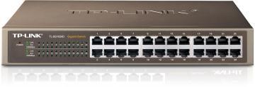 """TP-LINK TL-SG1024D 13"""" 鐵殼 Gigabit 交換器,24埠1000BASE-T"""