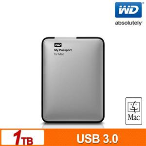 WD My Passport for Mac 1TB 2.5吋USB3.0行動硬碟