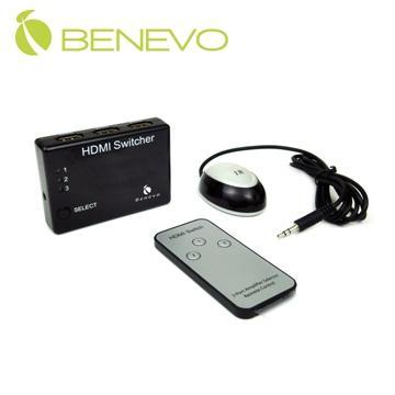 BENEVO UltraVideo BHS321  型 3埠 HDMI 影音切換器,附紅外