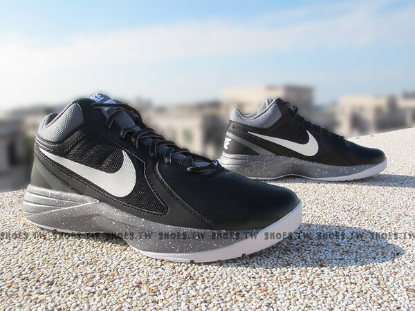 Shoestw【637382-020】NIKE THE OVERPLAY VIII 籃球鞋 室外 黑潑墨