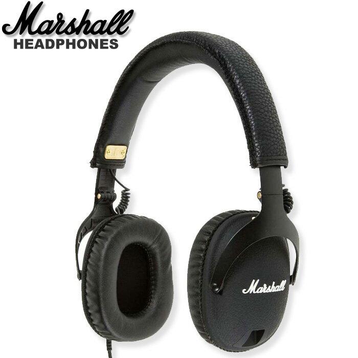 【非凡樂器】Marshall Monitor 專業級監聽型耳機/黑色black/英國設計/完美呈現搖滾元素