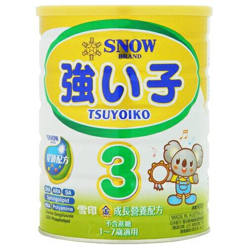 (買6送1)雪印金強子成長奶粉3號 900g