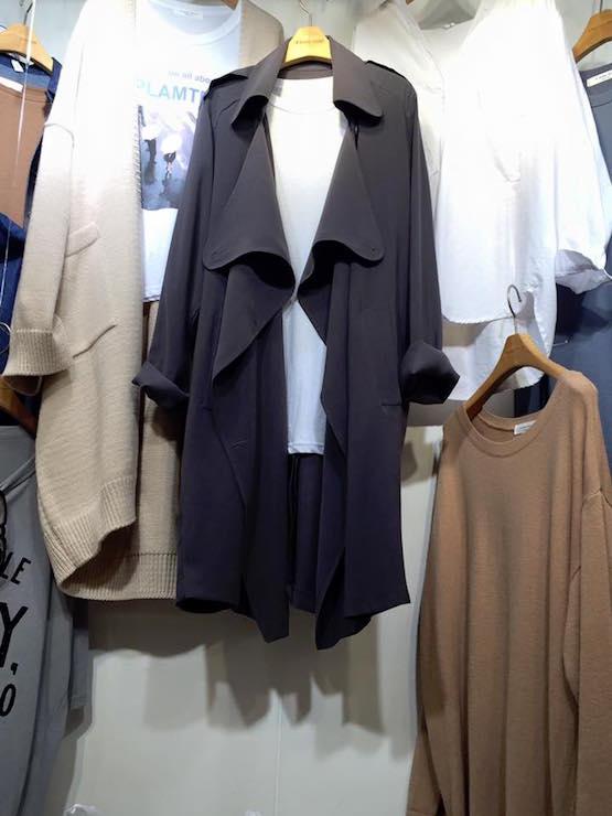 正韓隨性領風衣外套(現/預)4色 5