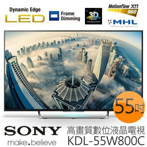 《贈 精緻桌裝》SONY KDL-55W800C 55吋 高畫質數位液晶電視《加贈 HDMI線、7-11禮券$400、16G隨身碟》
